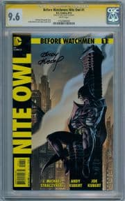 Before Watchmen Nite Owl #1 Variant CGC 9.6 Signature Series Signed Andy Kubert HBO TV DC comic book