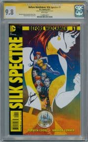 Before Watchmen Silk Spectre #1 CGC 9.8 Signature Series Signed Amanda Conner HBO TV DC comic book