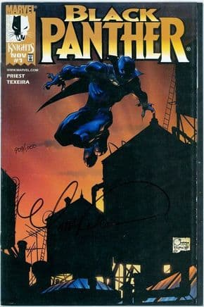 Black Panther #1 (1998) Dynamic Forces Variant Signed Mark Texeira DF COA Ltd 1000 Marvel comic book