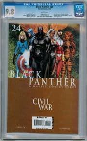 Black Panther #24 Michael Turner Cover CGC 9.8 Civil War Marvel comic book