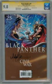 Black Panther #25 CGC 9.8 Signature Series Signed Michael Turner Civil War Movie Marvel comic book