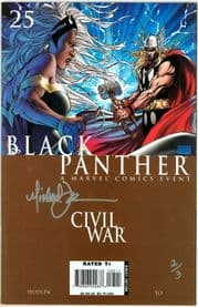 Black Panther #25 Dynamic Forces Signed Michael Turner DF COA Ltd 3 Marvel Movie comic book