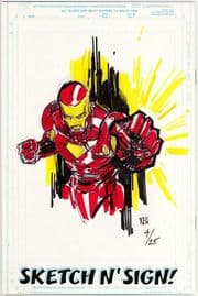Call Of Duty #1 Jay Company Originals Sketch N Sign Keu Cha Remarked Iron Man COA #4