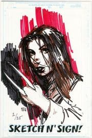 Call Of Duty #1 Jay Company Originals Sketch N Sign Keu Cha Remarked X-23 COA #1