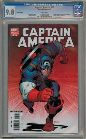 Captain America #25 Ed McGuinness Retailer Variant CGC 9.8 Civil War Marvel comic book