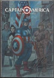 Captain America Red White And Blue Hardcover Dynamic Forces Signed Alex Ross DF COA Marvel