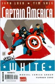 Captain America White #0 Dynamic Forces Signed Joe Simon DF COA Ltd 35 Marvel comic book