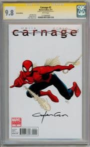 Carnage #2 Art Adams Retail Variant CGC 9.8 Signature Series Signed Clayton Crain Marvel comic book