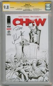 Chew #1 Limited Edition CGC 9.8 Signature Series Signed John Layman & Rob Guillory Image comic