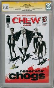 Chew #13 Resevoir Dogs Variant CGC 9.8 Signature Series Signed John Layman Rob Guillory Image comic