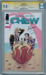 Chew #6 CGC 9.8 Signature Series Signed John Layman & Rob Guillory Image comic