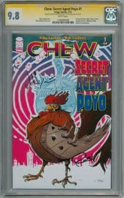 Chew Secret Agent Poyo #1 CGC 9.8 Signature Series Signed John Layman & Rob Guillory Image comic