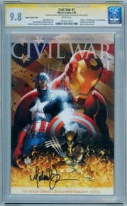 Civil War #1 Aspen Variant CGC 9.8 Signature Series Signed Michael Turner Marvel comic book