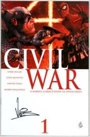 Civil War #1 First Print Dynamic Forces Signed Dexter Vines DF COA Ltd 160 Marvel comic book
