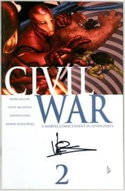 Civil War #2 Dynamic Forces Signed Dexter Vines COA Ltd 45 Marvel comic book