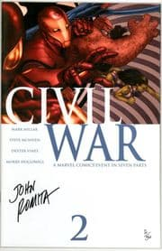 Civil War #2 Dynamic Forces Signed John Romita Sr DF COA #2 Marvel comic book