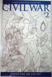 Civil War #2 Michael Turner Sketch Retail Incentive Variant 1:75 RRP Marvel Comics