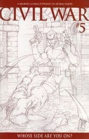 Civil War #5 Michael Turner Sketch Retail Incentive Variant 1:75 Marvel Comics
