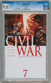 Civil War #7 First Print CGC 9.8 Captain America 3 Movie Marvel comic book