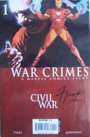 Civil War: War Crimes Dynamic Forces Signed Frank Tieri DF COA Ltd 10! Marvel comic book