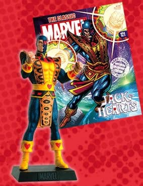 Classic Marvel Figurine Collection #121 Jack Of Hearts Eaglemoss Publications