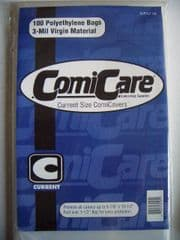 Comic Bags x100 Current Comicare Comicovers PE Polyethylene Supply 105