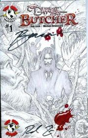 Darkness Butcher Top Cow Store Sketch Variant Signed Levin & Broussard comic book