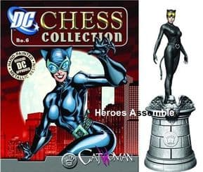 DC Comics Chess Collection Figurine #05 Catwoman White Queen Eaglemoss