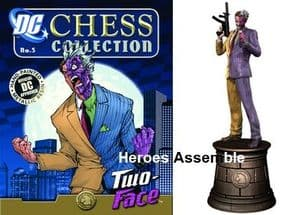 DC Chess Collection Figurine #6 Two Face Black Knight Eaglemoss