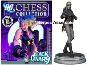 DC Chess Figurine Collection #16 Black Canary White Pawn Eaglemoss