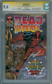 Deadpool #1 First Print (1997) CGC 9.4 Signature Series Signed Ed McGuinness & Rob Liefeld Marvel comic book