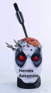 Deadpool X-Force PX Variant Pencil Cup Desk Accessory Bust Gentle Giant Limited Edition COA Marvel Comics