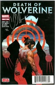 Death Of Wolverine #1 First Print Dynamic Forces Signed Charles Soule DF COA Ltd 181 Marvel comic book