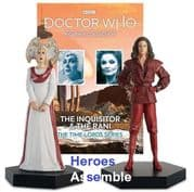 Doctor Who Figurine Collection The Inquisitor & The Rani Time Lords Set 4 Eaglemoss