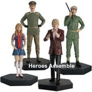 Doctor Who Figurine Collection Third Doctor Jo Grant Brigadier Benton UNIT Companion Set Eaglemoss