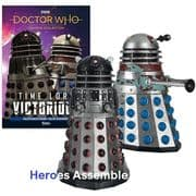 Doctor Who Figurine Collection Time Lord Victorious Dalek Execution & Strategist Set Eaglemoss