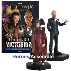 Doctor Who Figurine Collection Time Lord Victorious Tenth Doctor & Brian the Ood Set Eaglemoss