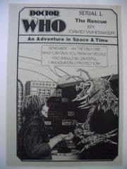 Doctor Who The Rescue CMS In-Vision RARE