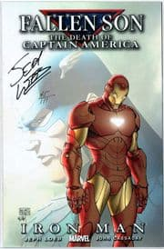 Fallen Son Death of Captain America #5 Dynamic Forces Signed Jeph Loeb DF COA Marvel