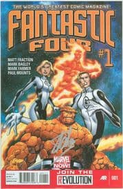 Fantastic Four #1 First Print 2012 Signed Stan Lee Marvel Now comic book