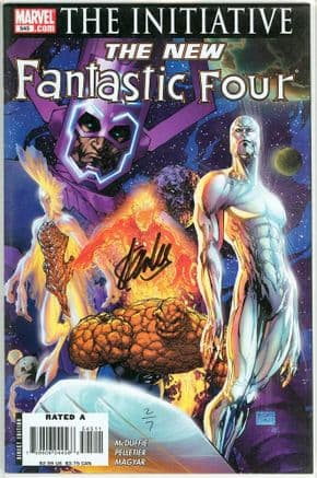 Fantastic Four #545 Dynamic Forces Signed Stan Lee DF COA #2 Silver Surfer Galactus Marvel