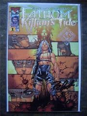 Fathom Killian's Tide #1 Megacon Platinum Foil Signed Talent Caldwell COA Ltd 150