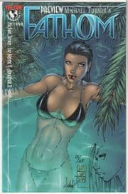 Fathom Preview #1 Signed Michael Turner Remarked Sketch COA Ltd 25 Jay Company 1st Aspen