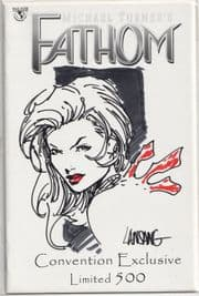 Fathom Preview WWC Variant Signed Clarence Lansang Remarked Sketch Jay Company COA comic book