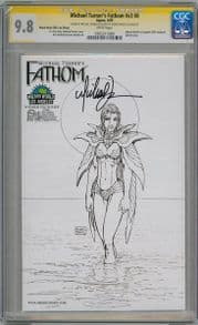 Fathom Volume 2 #0B Wizard World Sketch Variant CGC 9.8 Signature Series Signed Michael Turner Aspen comic book