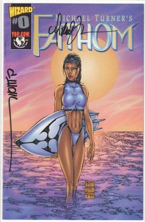 Fathom Wizard #0 Signed Michael Turner & David Wohl Top Cow comic book