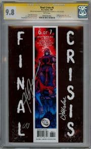 Final Crisis #6 CGC 9.8 Signature Series Signed x3 Doug Mahnke Alamy Jones DC