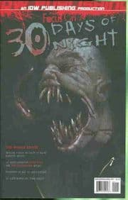 Focus on 30 Days of Night One Shot (2007) IDW Publishing comic book