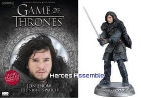 Game Of Thrones Official Collector's Models #02 Jon Snow Figurine & Magazine Eaglemoss