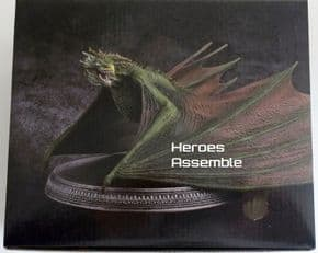 Game Of Thrones Official Collector's Models Premium Dragon #1 Rhaegal Figurine & Magazine Eaglemoss